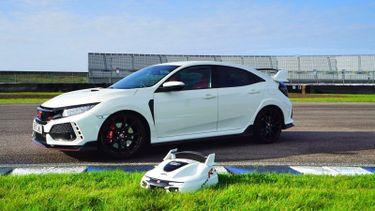Honda Civic Type R grasmaaier