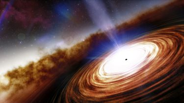 Oudste zwarte gat ooit