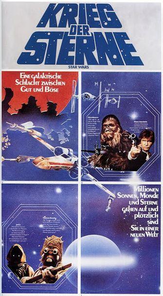 Algemene Star Wars filmposter uit 1990 (Rusland)