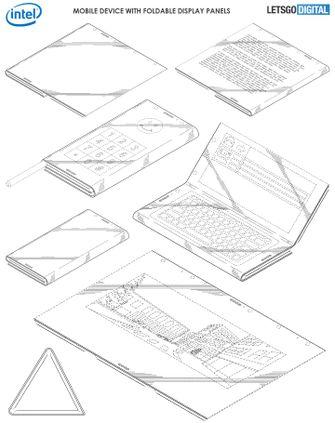 Opvouwbare smartphone Intel patent
