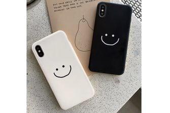 smartphone hoesje glimlach