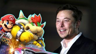 Elon Musk Mario Kart Tesla