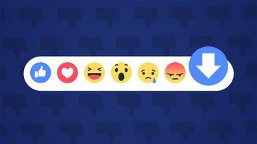 Facebook downvote knop dislike
