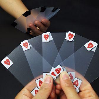 Doorzichtige speelkaarten