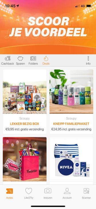 Geld besparen met de Scoupy app