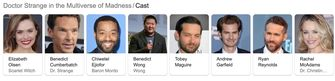 Cast Doctor Strange Marvel