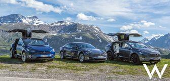 Tesla Model S en Model X roadtrip alpen
