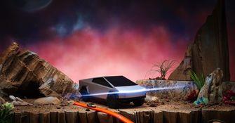 Hot Wheels Tesla Cyber Truck R:C Car afbeelding Mattel Creations
