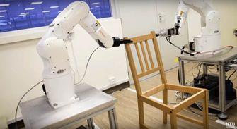 robot NTU Singapore Ikea stoel
