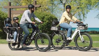 Elektrische fiets e-bike Flyer L885 kinderen ouders