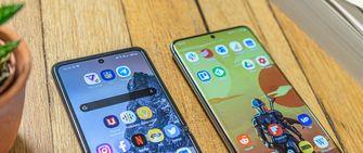 Samsung Galaxy S20 Ultra vs Samsung Galaxy Z Flip bovenkant