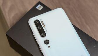 Xiaomi Mi Note 10 preview cameras achterkant