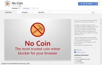 No Coin Chrome extensie