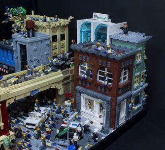 The Avengers Battle of New York Lego