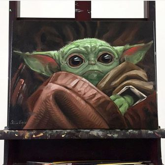 Baby Yoda schilderij AliExpress