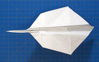 Fold''NFly papieren vliegtuig