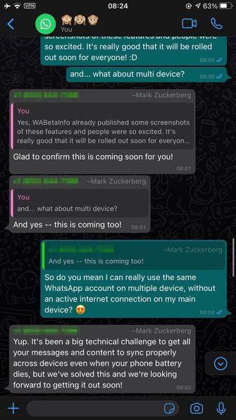 WhatsApp Mark Zuckerberg