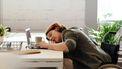 slapen thuiswerken laptop