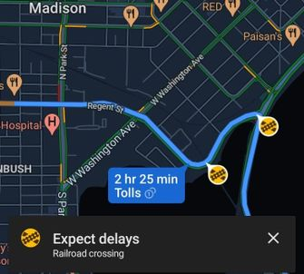 Google Maps spoorwegovergang