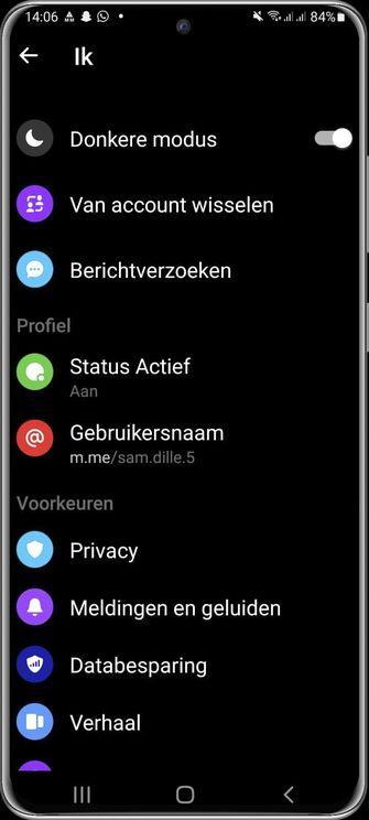 Dark Mode Facebook Messenger