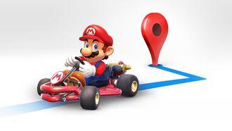 Mario Kart Google Maps