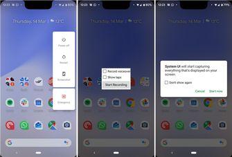 Android Q scherm opnemen