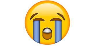 huilende emoji WhatsApp