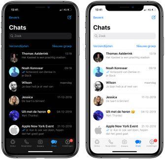 WhatsApp iOS iPhone Dark mode 002