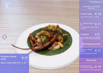 Foodstory menukaart