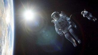 Vuilnis buiten zetten ruimte astronaut