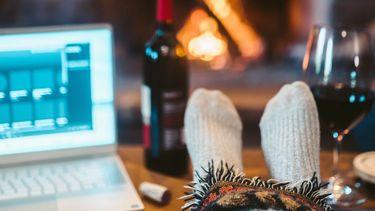 winter laptop thuis