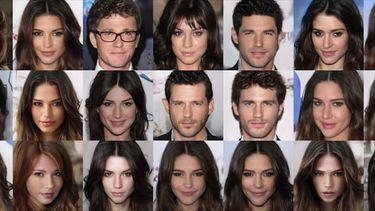 Aantrekkelijke gezichten AI