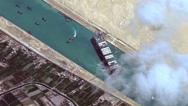Suez Kanaal Ever Given kanaal