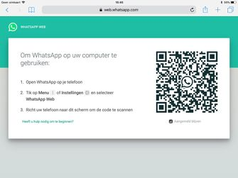 Whatsapp op iPad