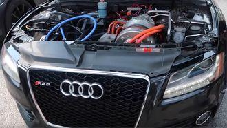 Audi S5 met Tesla Model S motor
