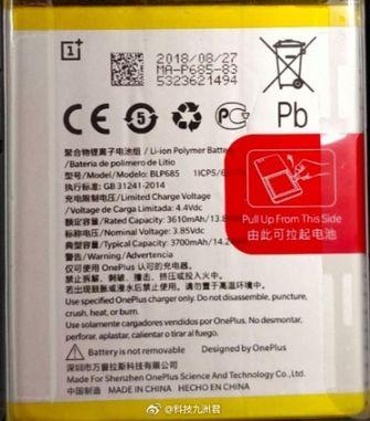 OnePlus 6T batterijcapaciteit