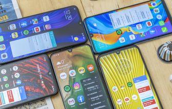 Budgetsmartphones vergelijking schermen