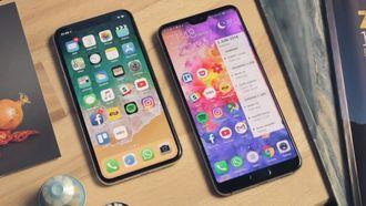 iPhone X Apple Huawei