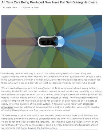 Tesla elektrische auto