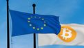 Europese vlag, Bitcoin cryptocurrencies vlag
