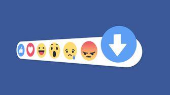 Facebook downvote knop