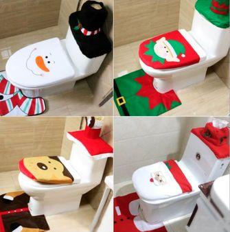 Decoratie toilet kerstmis