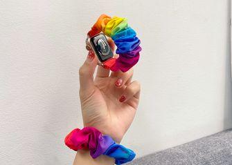 scrunchie Apple Watch band