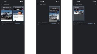 Chrome-tabbladen op Android
