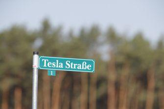 Tesla straat in Duitsland
