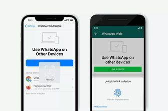 Biometrische gegevens WhatsApp web