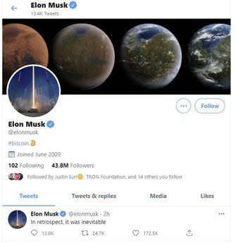 Elon Musk Bitcoin Twittter