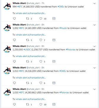 Spelen whale-transacties een rol bij de recordwaarde van de Bitcoin?