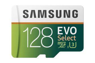 Samsung 128GB Evo Select microSD gamen