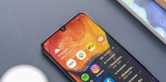 Samsung Galaxy A50 design notch schermafbeelding